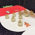 今日团,金镶和田玉 平安果吊坠,圣诞特供,六福同款