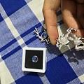 玻璃体蓝月光石和彩月光石