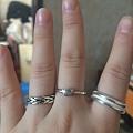 晒晒三个小戒指