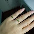 18K金镶钻翡翠手链戒指