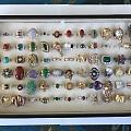 假期整理了一下首饰,戒指,五花八门的戒指,请欣赏