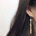满天星流苏珍珠耳环