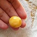 出闲置自己磨的俄料原矿天然蜜蜡大蛋面