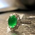 正阳绿玻璃种翡翠戒指可以看到什么价?