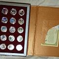 2010年上海世博会纯银记念章套装15枚