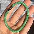 出全新翡翠满绿苹果绿手链和叶子吊坠