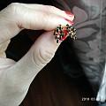 闲置钻石锁骨链30分,南红蛋面,18k玛瑙耳钉