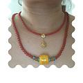 叠戴红珠项链