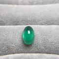 长椭圆素面祖母绿 通透晶体 颜色高饱和度