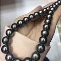 大溪地黑珍珠,最小11mm,微微瑕,光泽好,35粒
