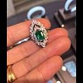 看到一个大美祖母绿戒指~美图分享下