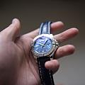晒一块儿蓝盘手表~百年灵银河