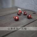 原创木工雕刻山果系列手链项链耳环首饰