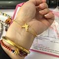 各品牌送的925银镀金项链,钮扣珍珠吊坠,耳钉,各种足金手链