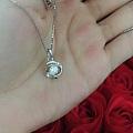 纯银镶嵌施华洛世奇水钻,买即送永生花礼盒坛友仅需159元