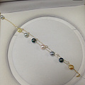 新入一根彩色海珠双珠手链