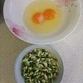 鸡蛋蒸槐花