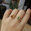 18K金镶翡翠手链项链有证书银镶红蓝宝石耳钉戒指