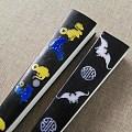 新品折扇,镶嵌老鼠、蝙蝠图案,起个什么名字好?