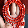 少有的尺寸,红珊瑚6.5mm108颗佛珠