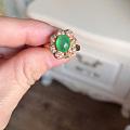 翡翠18k金彩宝镶嵌戒指