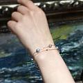 夏天到了,该出手时就出手 小价位珍珠手链,18k金配件 可调节 这个夏天让腕...