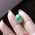 转闲置翡翠925银冰黄扣、三彩八卦、小绿桶红珠手串,黄加绿桃辣绿桶芝麻糊指环