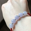 转闲置翡翠10mm粉紫珠、7.5湖水绿圆珠项链、大桶珠、起光白冰项链