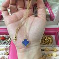 巴黎走秀款 蓝陶瓷 项链 工厂做的 18k 都有标记 中号