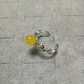 蜜蜡鸡油黄戒指