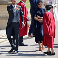 Arrive for the Royal Wedding at Windso...