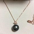 黑珍珠18k镶钻项链,多少钱入合适