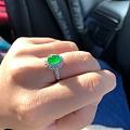 贰月萱籽镯和黄阳绿色标戒指