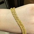 新出一条心形黄钻手链