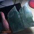 10万买下的翡翠原石,一刀切出100万稀有蓝冰挂件