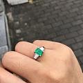 1.14克拉哥伦比亚祖母绿戒指,颜色浓郁的精品