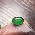 冰种阳绿翡翠蛋面, 尺寸8.3。6.3。3.1MM完美无纹裂