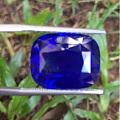 20多克拉的无烧孔雀蓝蓝宝石,GRS给了特殊评价。