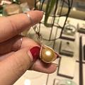金珠吊坠,14K金镶嵌!珠子直径13.5-14MM