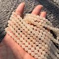 和田玉青海料藕粉手串,直径12的,8的,6的都有现货