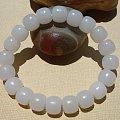 铭玉收藏---脂白白玉老型珠手串2550元