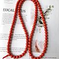 8.5mm红珊瑚佛珠手串,难得的尺寸
