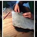 30多公斤翡翠原石,一刀切出一地裂,还是幸运取出一堆冰花手镯