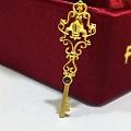 全新转香港品牌Pinkbox专柜购买新款黄金皇冠钥匙吊坠