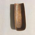 新收的一块竹雕茶则,包浆厚重,应该是老物件。