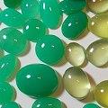 澳洲金黄葡萄石和綠玉髓