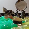 煙水晶.煙黄水晶,紅兔毛水晶, 澳洲金黄葡萄石,綠玉髓,藍虎眼