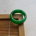 【玉缘雅轩】6.18满色艳绿16.1MM指环,微信yyyx666