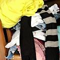 清理旧衣物