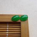 【玉缘雅轩】6.19好种满色阳绿蛋面一对,微信yyyx666